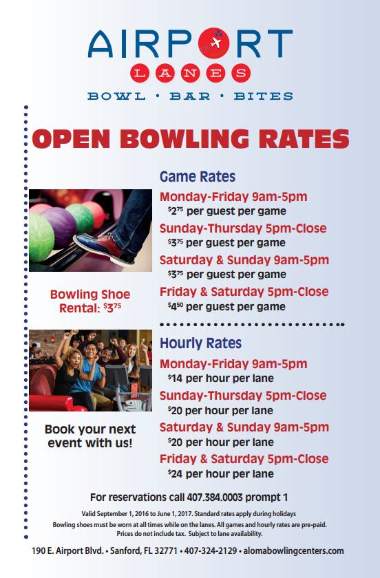 Bowling Rates