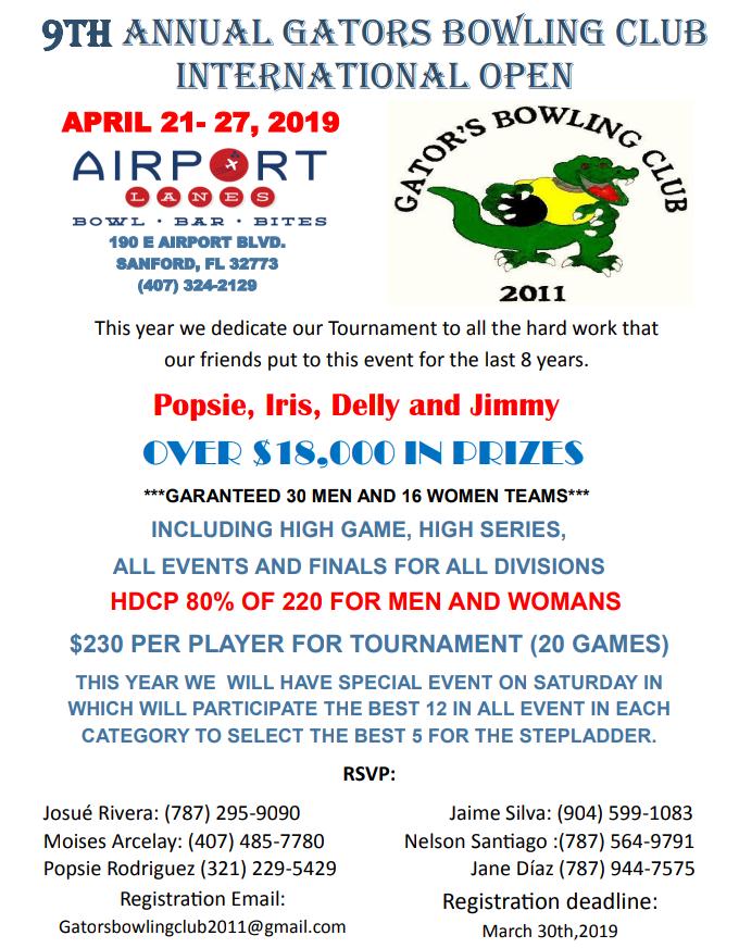 9th Annual Gators Bowling Club International Open