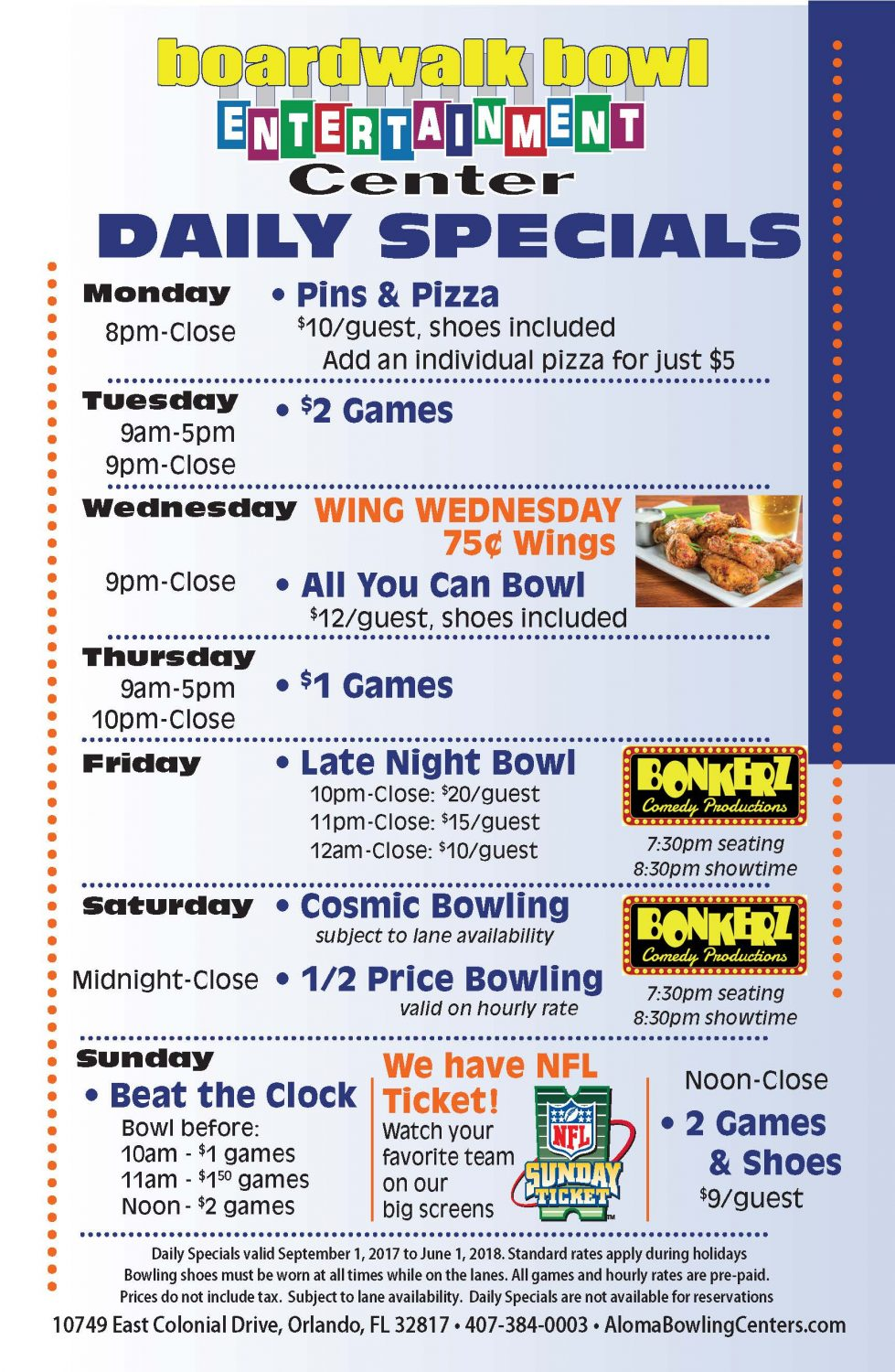 Fall Daily Specials