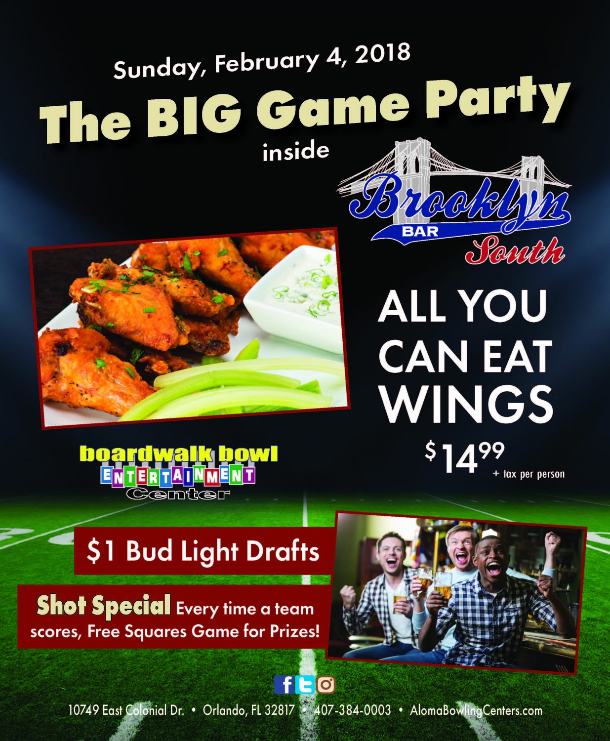 The Big Game Party Specials