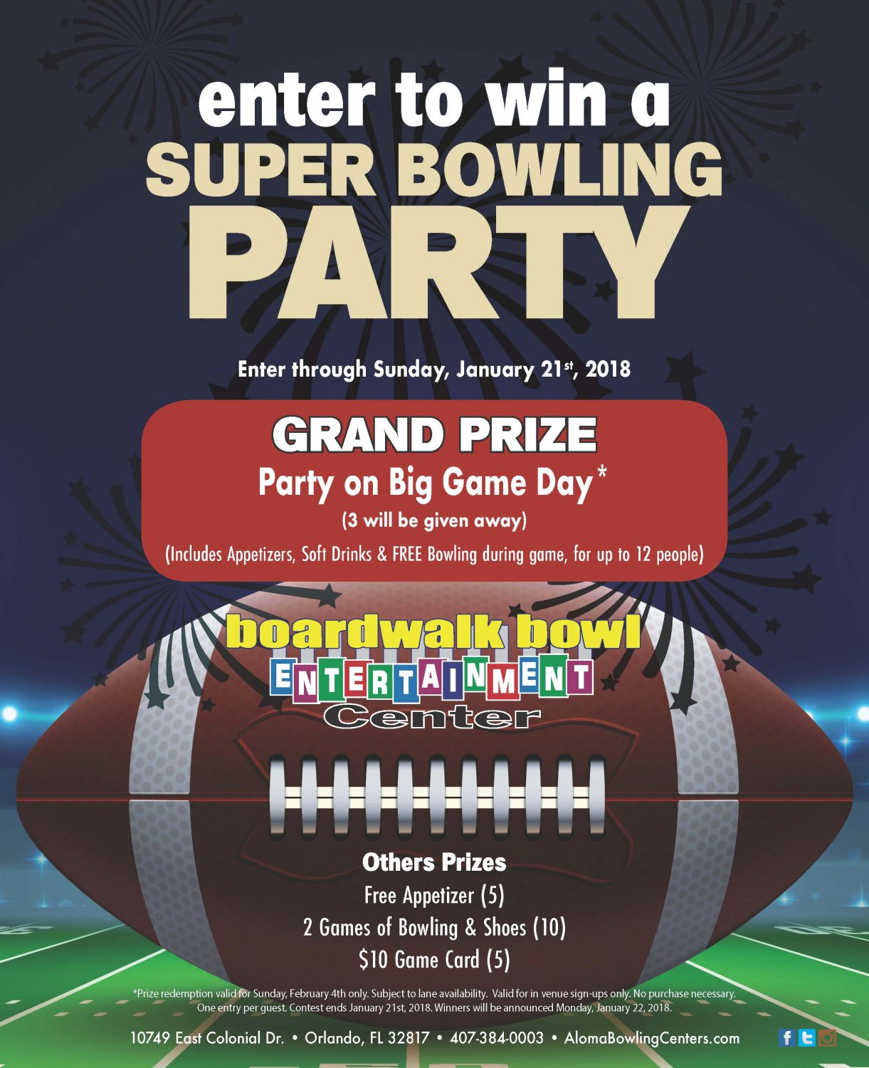 Win a Super Bowling Party