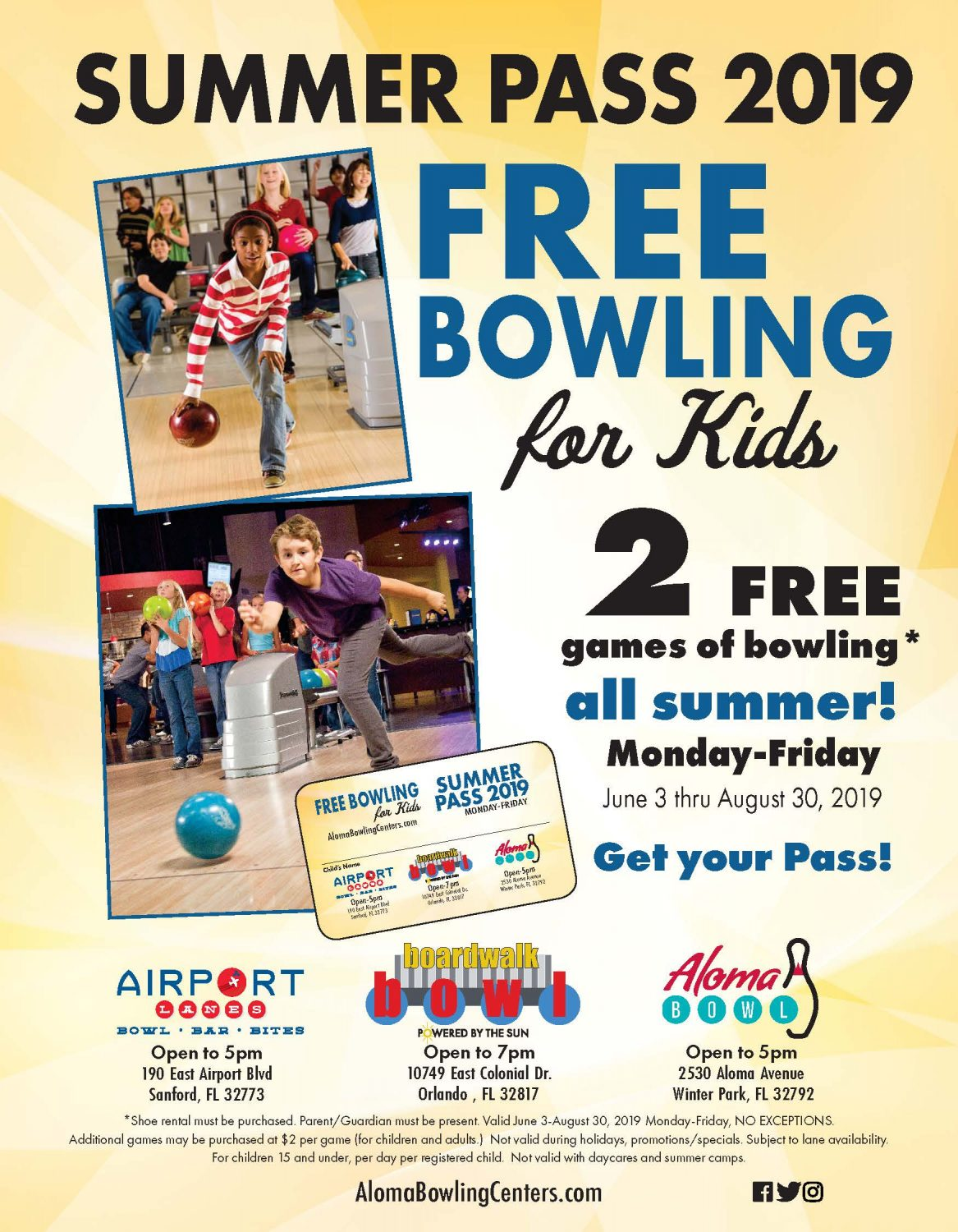 Free Bowling for Kids 2019