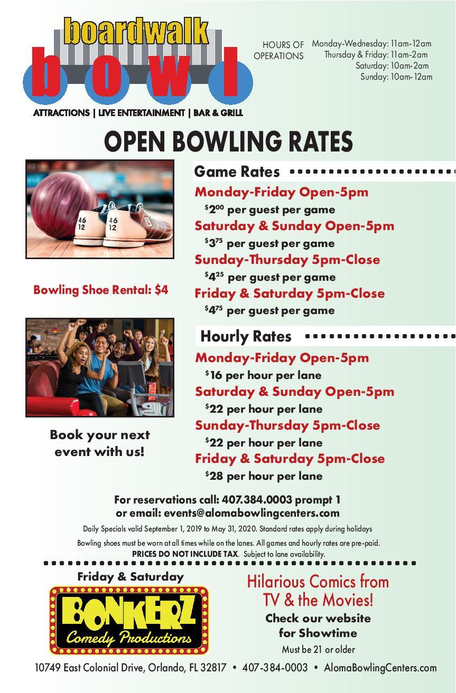 Fall Bowling Rates