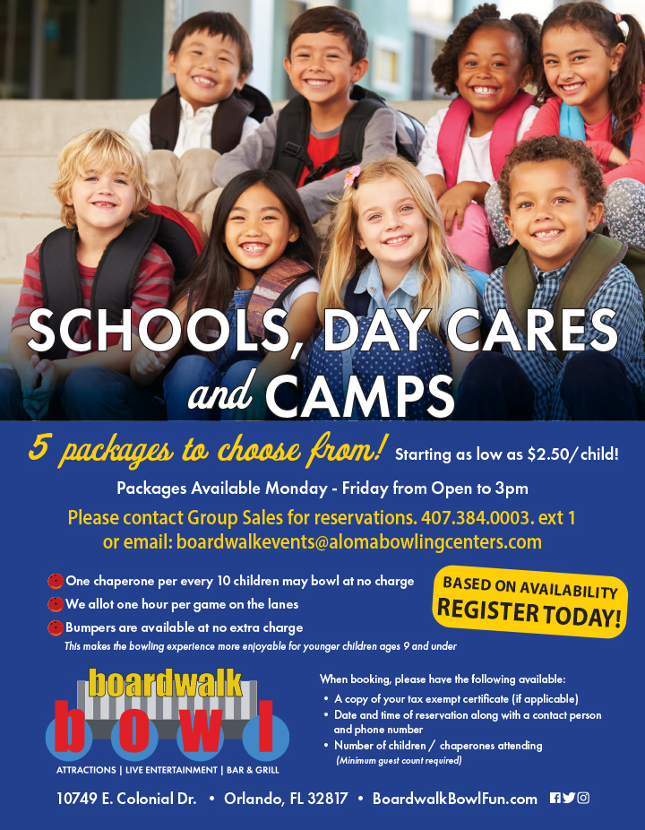 Schools, Day Cares & Camp Packages